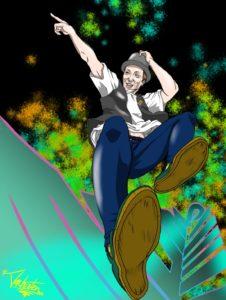 ロックダンサーのイラスト