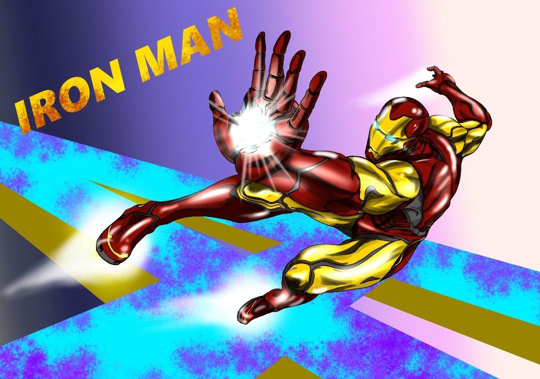 アイアンマンのイラスト