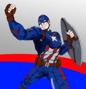 キャプテンアメリカのイラスト