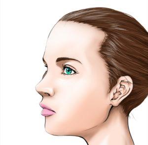 美容用女性の横顔イラスト