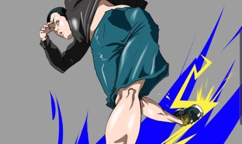 【ブレイクダンスイラスト】踝スライド