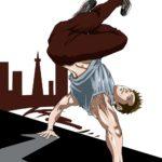 ブレイクダンスのイラスト(ハローバック)
