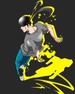 ブレイクダンスのイラスト「トップロック」