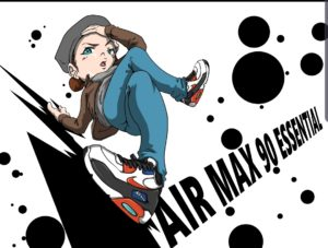 AIR MAX90ESSENCIALのイラスト