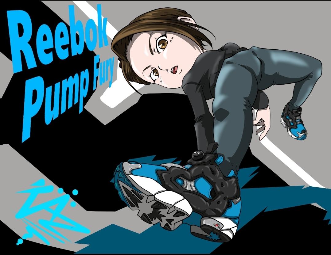reebok pump furyスニーカーイラスト