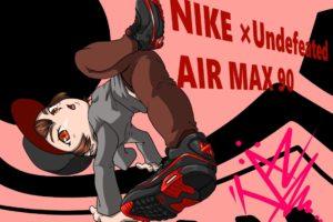 airmax90のスニーカーイラスト